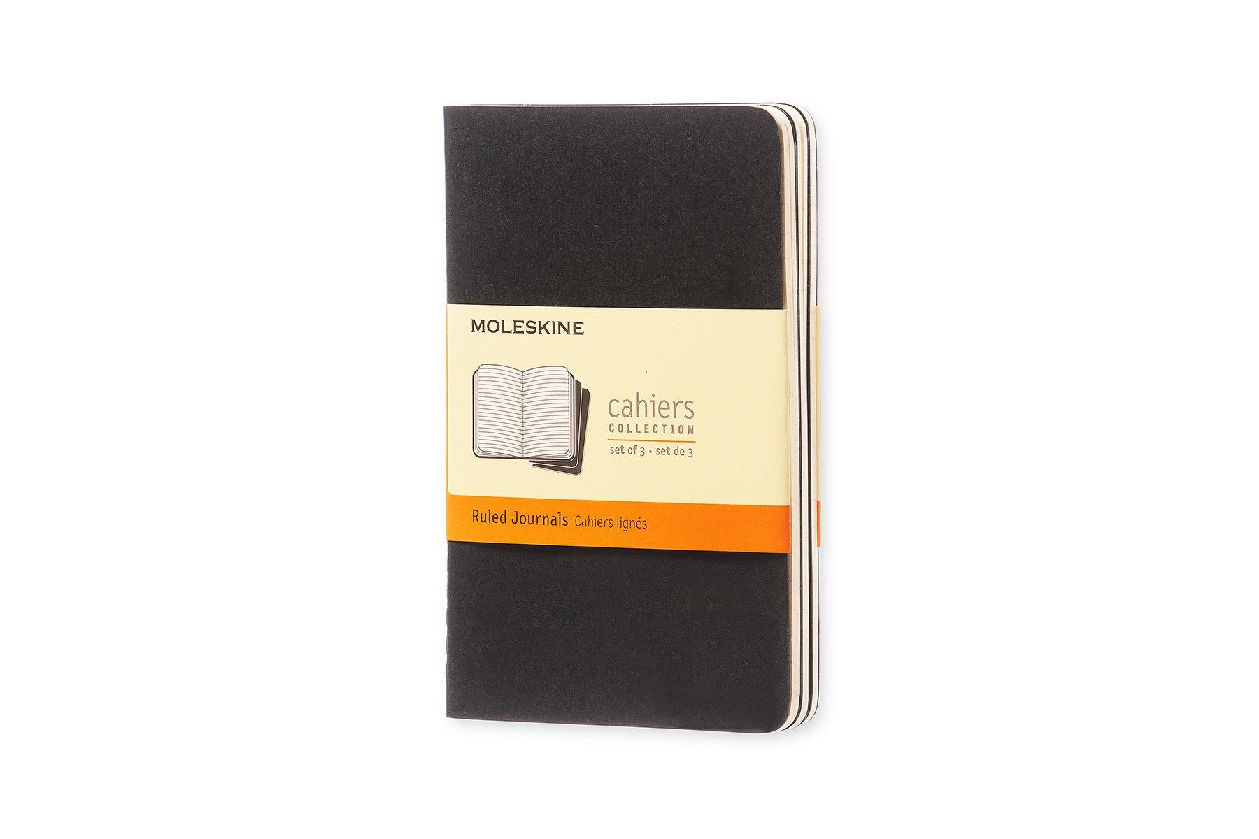 Moleskine Cahier Soft Cover Journal, Set of 3, Ruled, Pocket