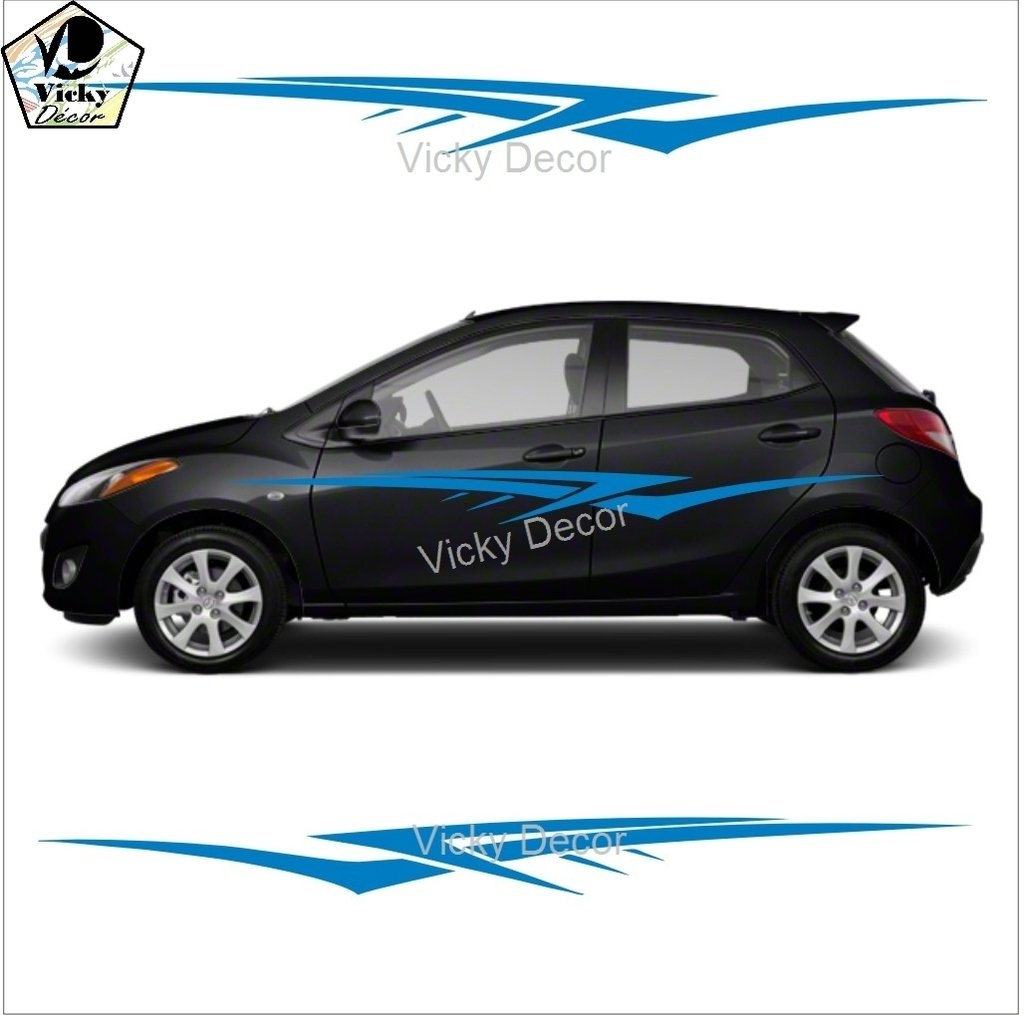 Vicky decor car sticker side crs025 full body vinyl car decal size 60inch x 11 inch car graphics fits all cars easy to apply 8 colors available amazon in