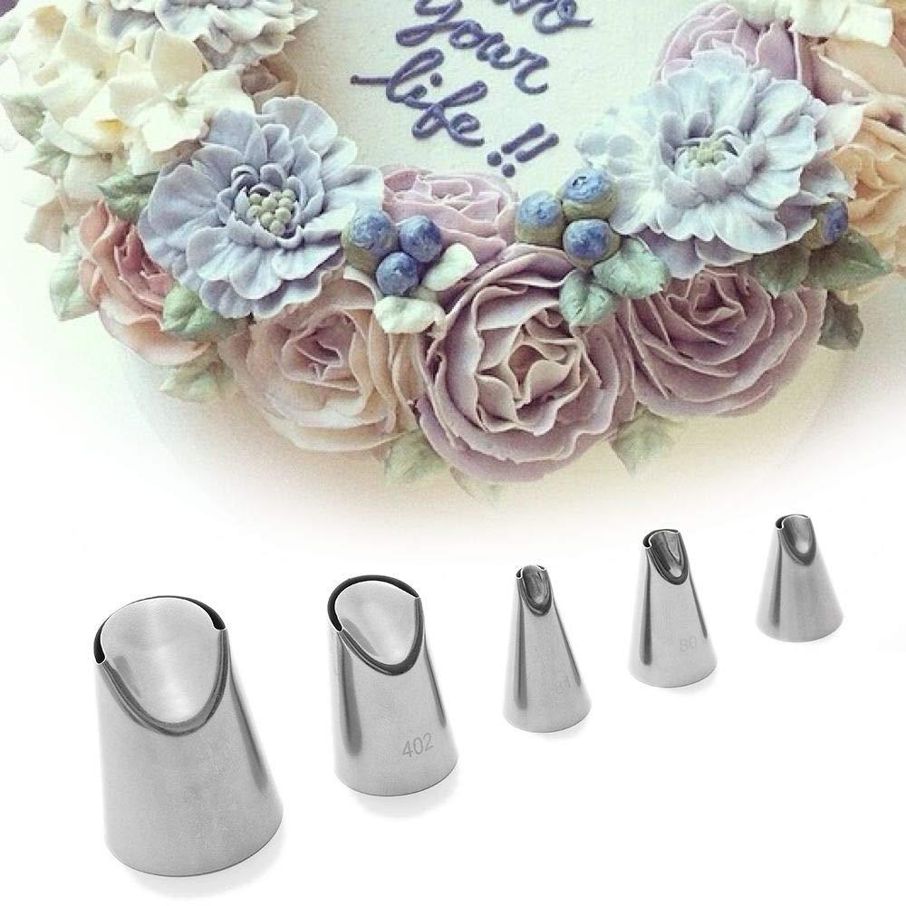 80 Que adorna la Herramienta de la Torta de Acero DIY pasteler/ía Rusa boquillas de Acoplamiento de tuber/ías formaci/ón de Hielo Puntas de Acero Rose Tulip Crema para Hornear Magdalena