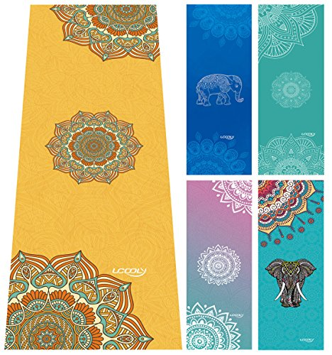 (UCOOLY Yoga Towel,100% Grippy MicrofiberYoga Mat Sizes Yoga Mat Towel Ideal for Hot Yoga, Bikram,Sweaty Practice)