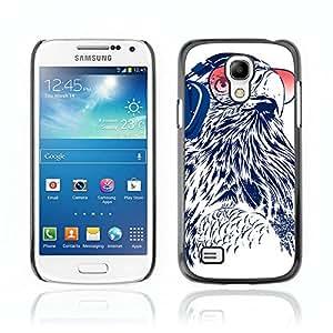 CASETOPIA / Sunglasses Owl / Samsung Galaxy S4 Mini i9190 MINI VERSION! / Prima Delgada SLIM Casa Carcasa Funda Case Bandera Cover Armor Shell PC / Aliminium