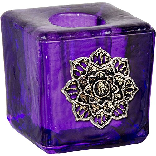 Mini Candle Holder Lotus Purple (Flare Candlestick)