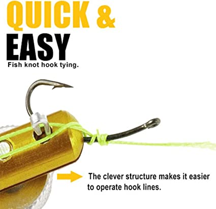 Metal Knotting Tool Fishing for Line Winder Sturdy Wear‑Resistant Practical General Purpose Professional Use for Fishing Fly Fishing