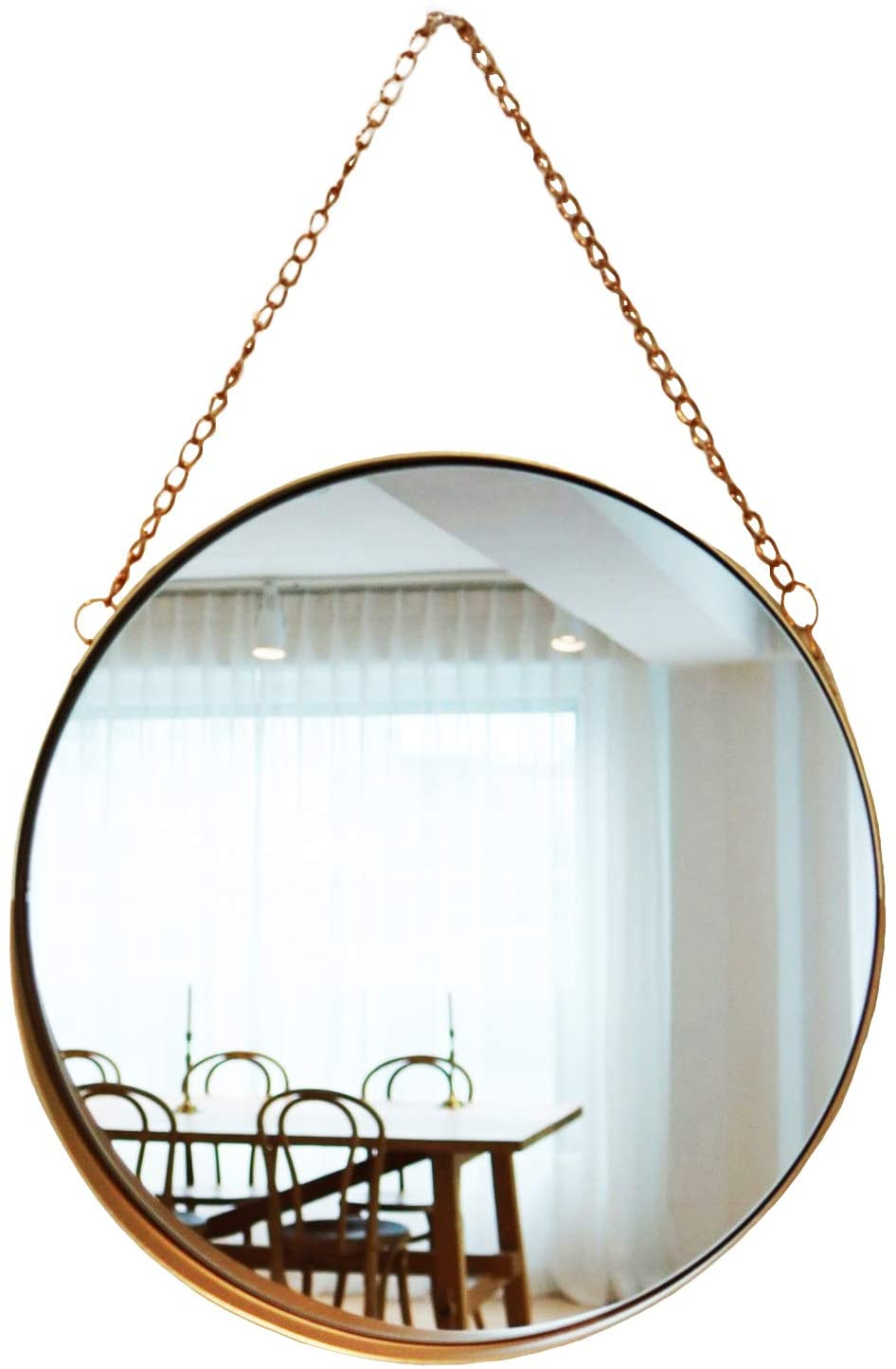 Amazon Com April Box Decorative Hanging Wall Mirror Small Vintage Mirror For Wall 10 Inch Gold Metallic Frame Mirror Premium Quality Material Wall Mirrors Easy Mounting Ideal For Bathroom Home Decor Furniture