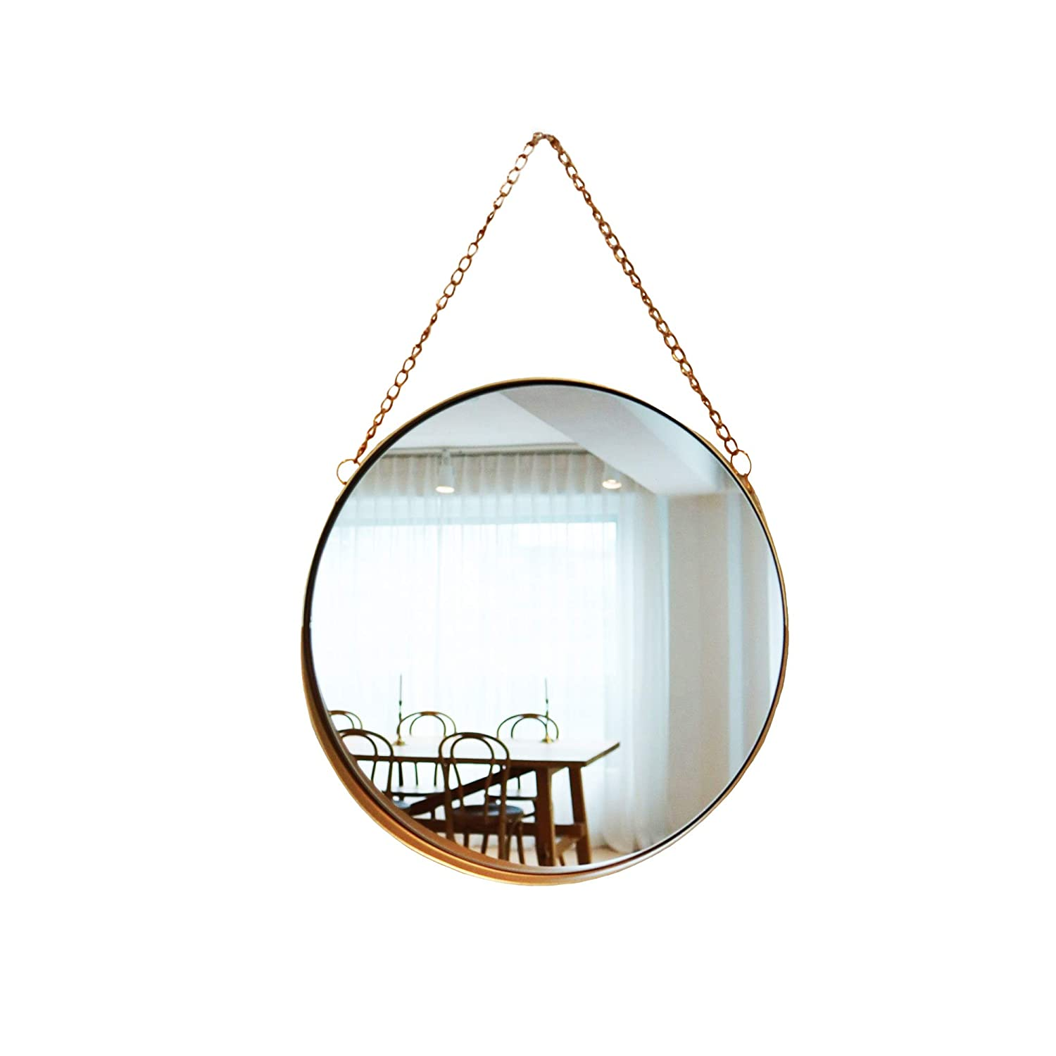 April box–Decorative Hanging Wall Mirror – Small Vintage Mirror for Wall - 10 Inch Gold Metallic Frame Mirror – Premium Quality Material Wall Mirrors –Easy Mounting –Ideal for Bathroom,Home Decor
