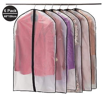 magasin en ligne f33ed 15858 Niviy Housses de Vêtements, Anti Poussière Etanche Mite Humidité,Housses de  Protection Zip Transparentes pour Chemise Costumes/Manteaux, 6pcs 60 * ...