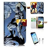 Pinky Beauty Australia Samsung Galaxy S4 Flip Wallet Case Cover & Screen Protector & Charging Cable Bundle! A8308 Superman Batman