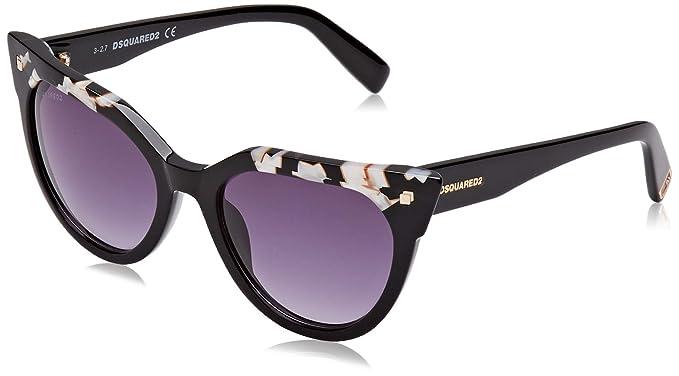 Dsquared2 EVA Gafas de Sol, Negro (Black/White/Gradient ...
