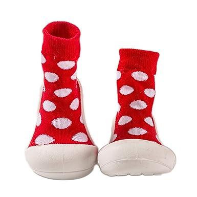 Amazoncom Baby Socks Crochet Tube Rubber Soled Non Skid Infants