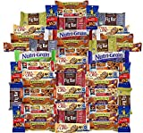 Healthy Snacks Care Package Variety Pack of 50, Fiber One Granola Bars and More For Sale