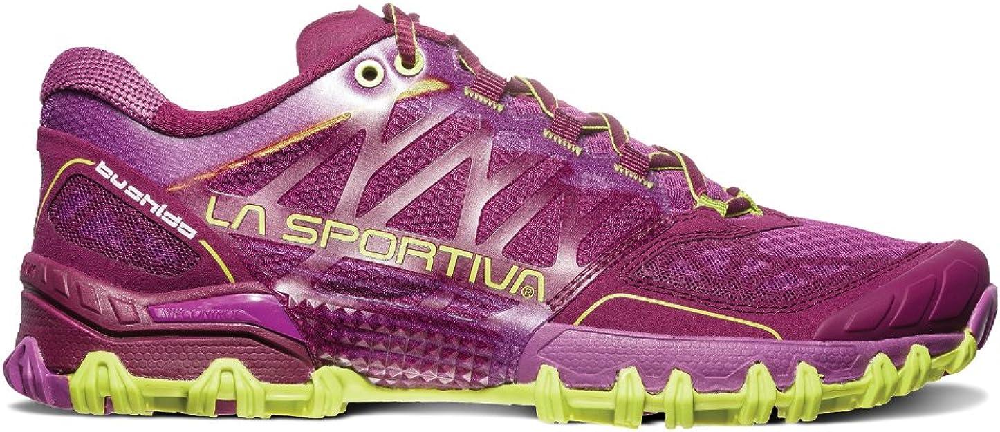 La Sportiva Bushido Trail - Zapatillas de Running para Mujer, Púrpura (Plum Apple Green), 37.5 M EU: Amazon.es: Zapatos y complementos