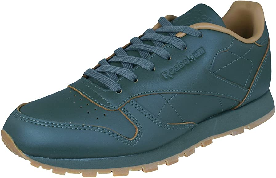 bcd710706 Reebok Classic Leather Kendrick Lamar Kids Sneakers/Shoes -Olive-3.5 ...