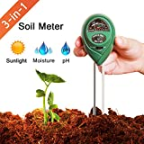 Marge Plus Soil Moisture Meter, 3 in 1 Soil Test Kit for PH, Light & Moisture, Plant Tester for Home and Garden, Farm, Lawn, Indoor & Outdoor (No Battery Needed)