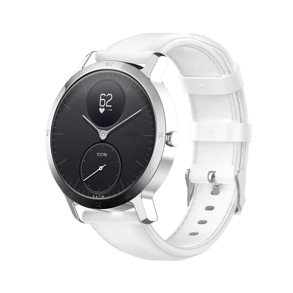 Baiomawzh Correa Piel de Reloj Compatible con Nokia Steel HR ...