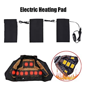 Wbestexercises Electric Heating Pads, 5V 2A 8.5W USB Electric Cloth Heater Pad, Washable Electronic Heated Pads, 3 Temperature Adjusting Modes for Indoor Outdoor Winter Camping