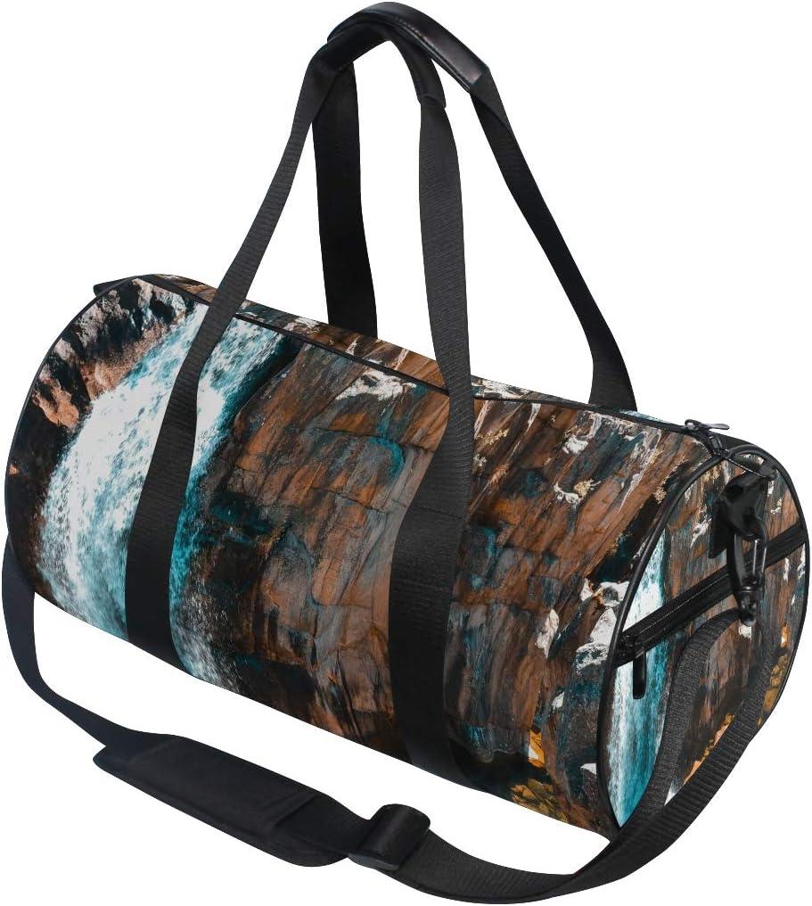 Duffel Bags Beautiful Cascade Creek Womens Gym Yoga Bag Small Fun Sports Bag for Men