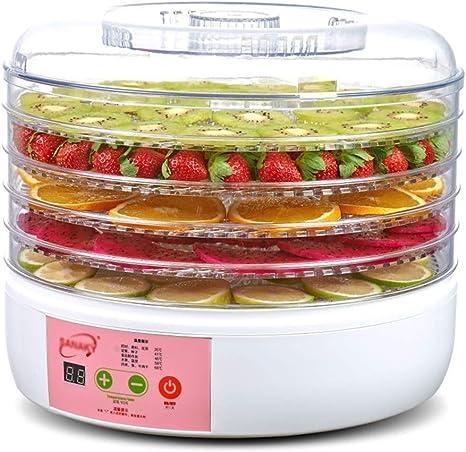 Opinión sobre L.TSA Deshidratador de Alimentos Deshidratador de Frutas Deshidratador Secadora eléctrica cilíndrica de plástico Verde de 5 Capas Secadora de Frutas, elaboración de Carne de Res y satisfacci