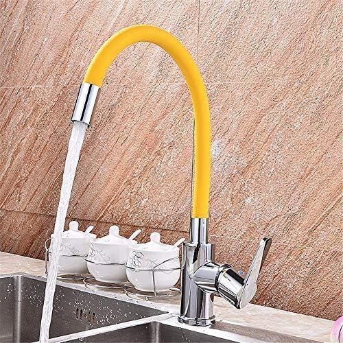 Gulakey バスルームのシンクの蛇口シングルハンドルの浴室台所のシンクの蛇口防水ショップキッチンキッチンタンク温水と冷水ステンレス鋼