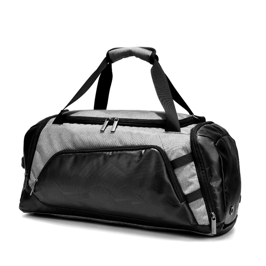 WANGXIAOLINYUNDONGBAO トラベルバッグ、携帯用、多機能、フィットネスバッグ、短距離用バッグ、スポーツ用バッグ、55×25×26cm(2色) (色 : Gray) B07NPMZSN4 グレー