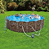 NEW 18' x 48'' Steel Pro MAX Frame Swimming Pool Set with Bonus Floating Cooler