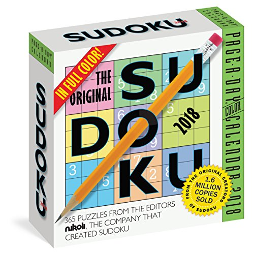The Original Sudoku Page-A-Day Calendar 2018