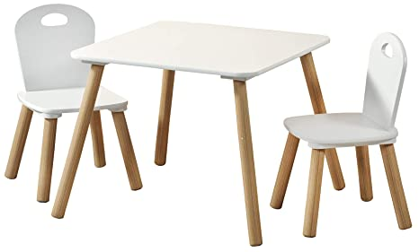 Kesper 17712 – Mesa infantil con 2 sillas, color blanco