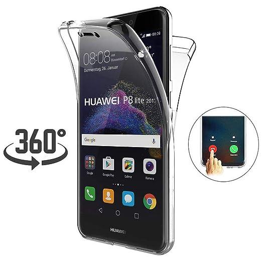 Funda Huawei P8 Lite 2017, [Touch 3.0 Versión Mejorada] [360 Full ...