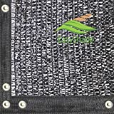 EasyShade 50% Black Shade Cloth Taped Edge with Grommets UV 6ft Width (6' x 100')