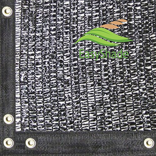 DIR 50% UV Shade Cloth Black Premium Mesh Shadecloth Sunblock Shade Top Quality Panel 20ft x (Knitted Shade Panel)