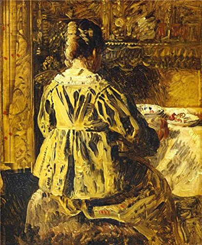 Oil Painting 'Henri De Braekeleer - Woman Seen On The Back,19th Century' Printing On Perfect Effect Canvas , 10x12 Inch / 25x31 Cm ,the Best Powder Room Gallery Art And Home Decor And Gifts Is This Reproductions Art Decorative Prints On Canvas