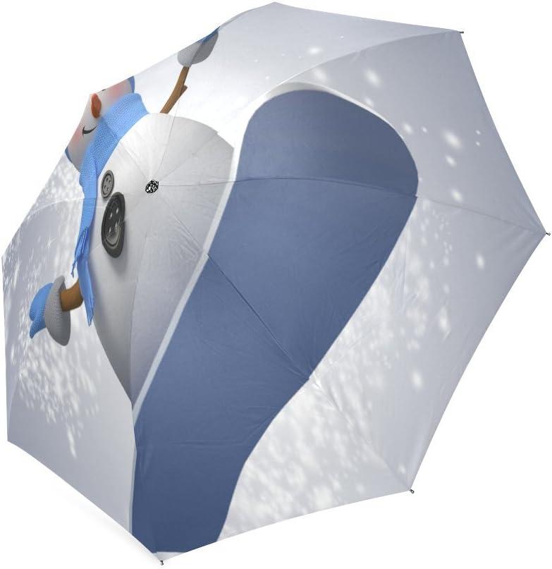 Custom The Snowman Compact Travel Windproof Rainproof Foldable Umbrella