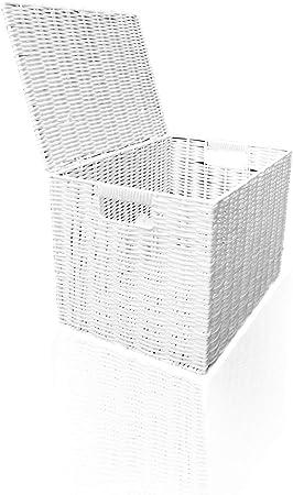 ARPAN - Cesta de Resina para Ropa Sucia o Juguetes, para niños, Resina, Blanco, Medium - W37xD26x26cms: Amazon.es: Hogar