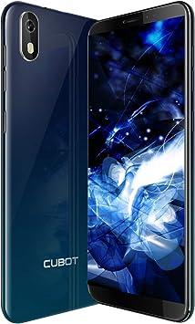 J5 Smartphone Libre 2019 Android 9.0 Teléfono móvil 3G sin contactos Dual Sim + Ranura TF Card 5,5 Pulgadas 16GB ROM 2GB RAM Quad-Core Procesador WiFi GPS 2800mAh CUBOT Oficial Color Aurora: