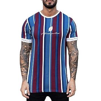 Wawer - Camiseta de manga corta con forma de yoga para ...