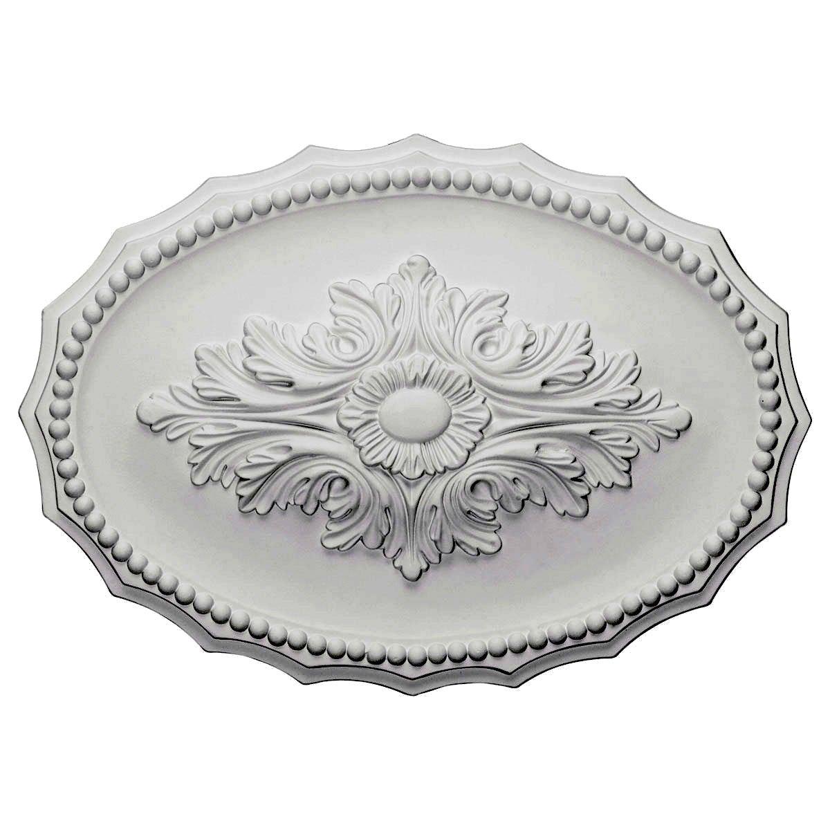 Ekena Millwork CM16OX 16 7/8-Inch W x 11 3/4-Inch H x 1 1/2-Inch Oxford Ceiling Medallion