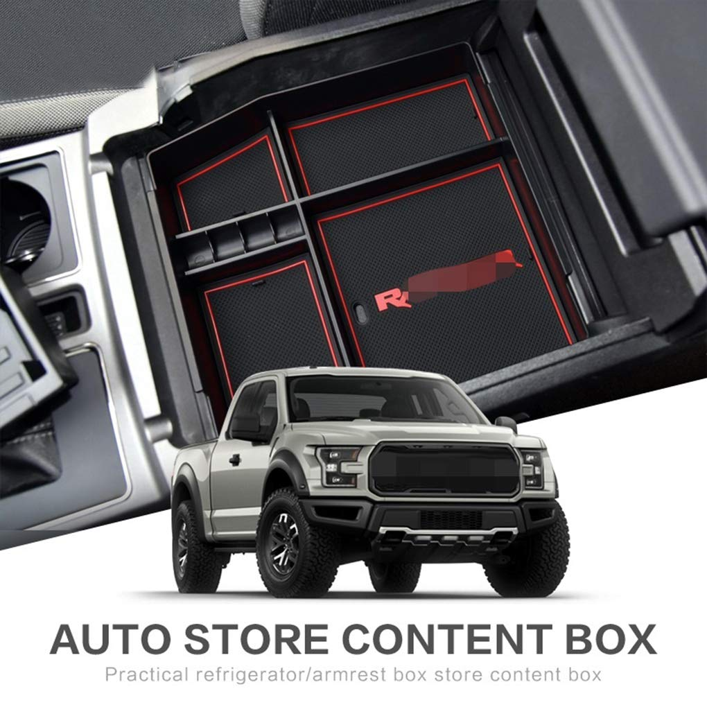 Topker Replacement for Ford F150 2015-2018 Car Center Console Armrest Box Organizer Secondary Storage Tray Pallet