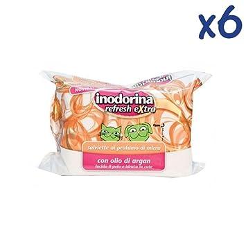 Toallitas Inodorina Refresh extra 40 unidades – Toallitas limpiadoras con aceite de argan de más Aromas