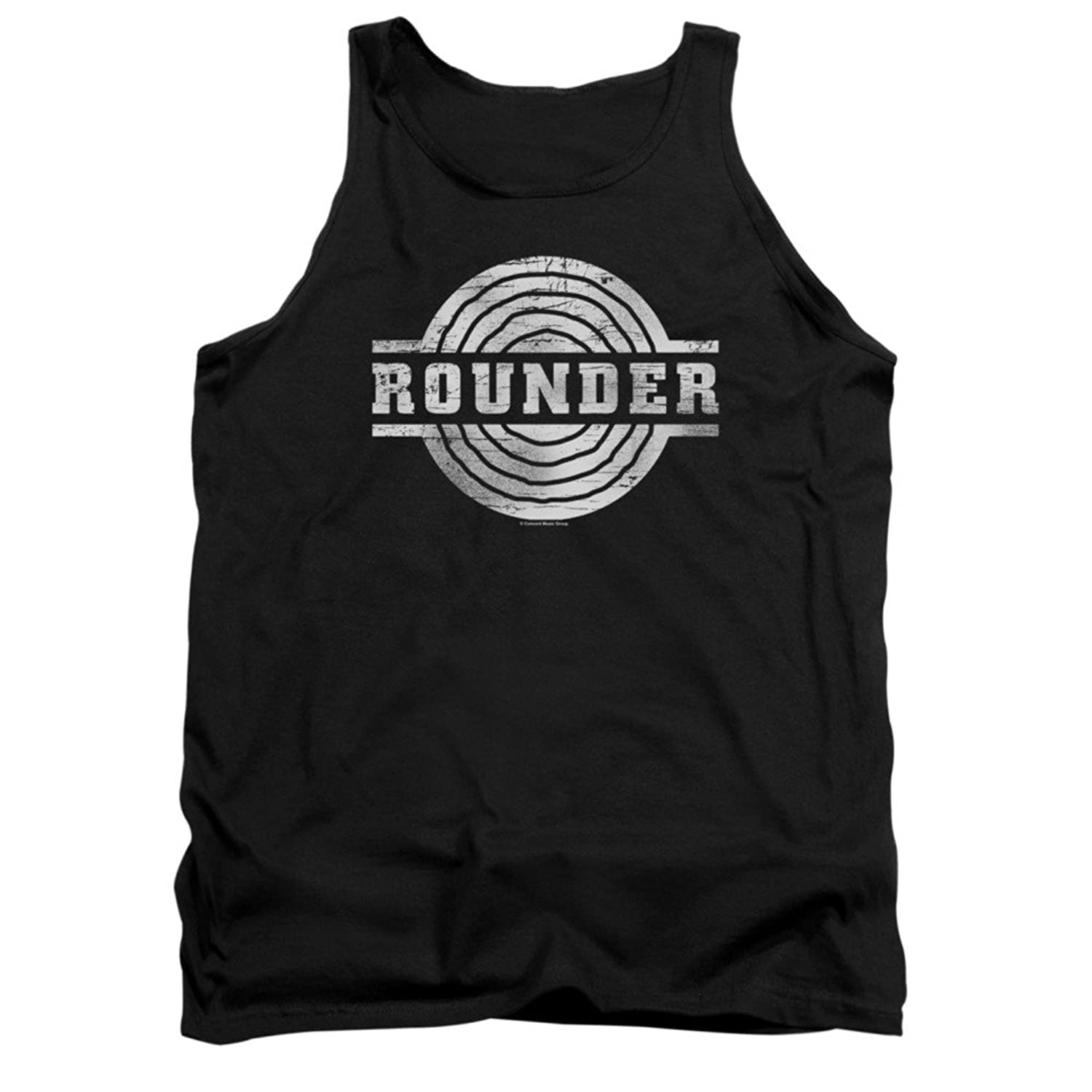 Concord Music Group Rounder Records Retro Logo Black Adult Tank Top Shirt