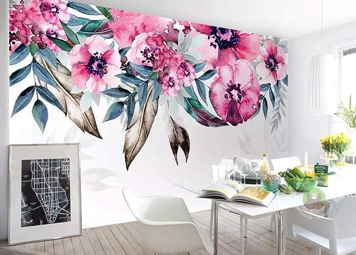 Amazon.com Murwall Peony Wallpaper Watercolor Floral Wall
