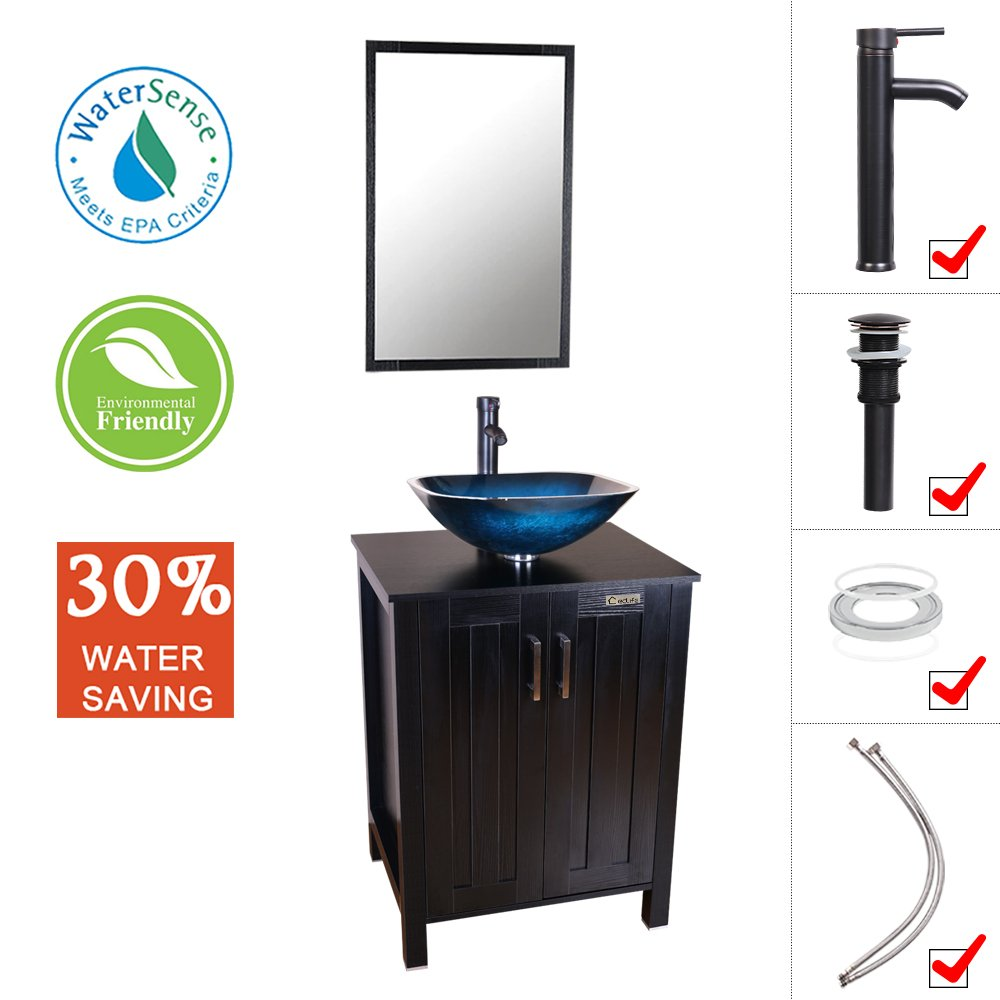 Eclife 24 Bathroom Vanity And Sink Combo Expresso Small Vanity