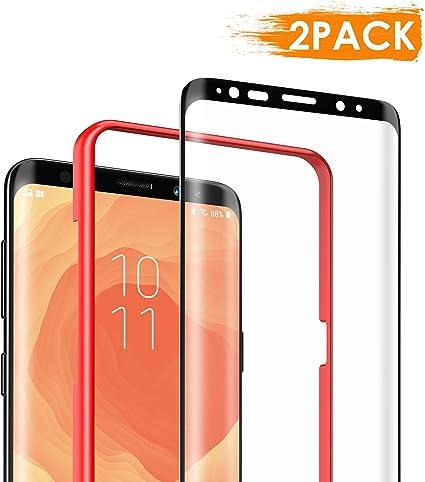 DEKOLY Protector de Pantalla para Samsung Galaxy S9 Vidrio Templado [2-Pack] [Alta Definición] [Anti-rasguños] Samsung Galaxy S9 Película Protectora con Herramientas: Amazon.es: Electrónica