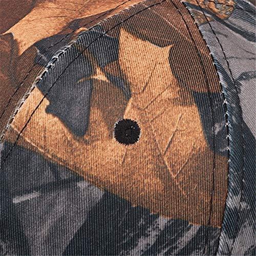 Gorra Libre los de Sombrero béisbol de los Ocio hat Deportes Sombreros Hombres al Gorra de Camuflaje qin C C Sombrero de Aire Hojas GLLH de EqpTnHx