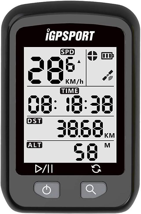 iGPSPORT iGS20E (versión española) - Ciclo computador GPS Bicicleta y Ciclismo. Cuantificador grabación de Datos y rutas. Pantalla Anti-Reflejos y de Gran Contraste. Batería hasta 25 Horas. IPX6: Amazon.es: Deportes y aire
