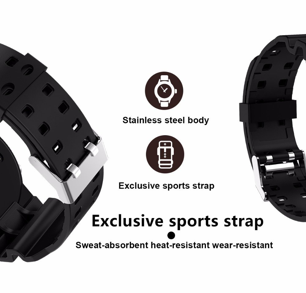 Amazon.com: CN3 Bluetooth GPS MT2523 Smart Watch Sport Heart Rate Smartwatch reloj inteligente Anti-lost for iPhone Android PK EX18, Black: Sports & ...