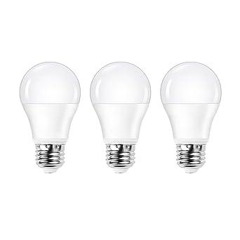 Ascher A19 bombillas LED, intensidad regulable, 10 W, equivalente a 60 W,