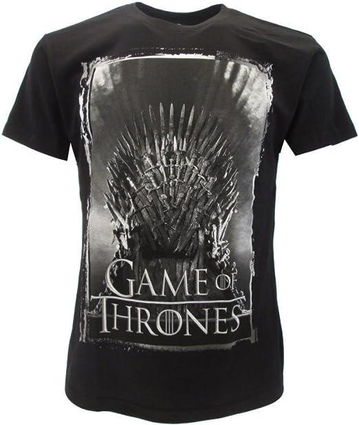 T-Shirt Camiseta Trono DE Hierro Serie de Televisión Juego DE Tronos Game of Thrones - 100% Oficial HBO: Amazon.es: Ropa y accesorios