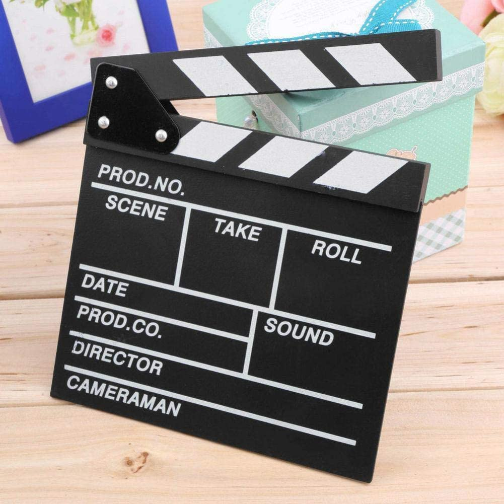 Director Video Scene Clapperboard Movie Clapper Board Film Slate Cut Prop Movie Clapper Board