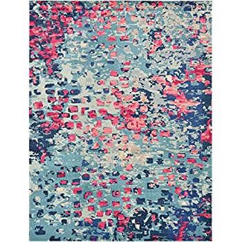 Amazon Com Modern Abstract Rugs Blue 8 11 X 12 Ft