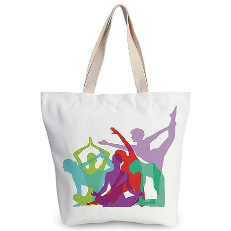 Amazon.com: iPrint Personalized Canvas Tote Bag,Yoga,Yoga ...