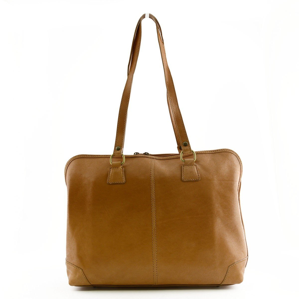 Made In Italy Genuine Leather Woman Business Bag 1 Compartment Color Honey - Business Bag B01D10JT16